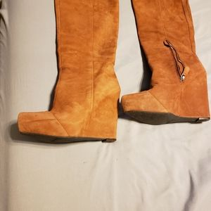 Nine west suede wedge boots